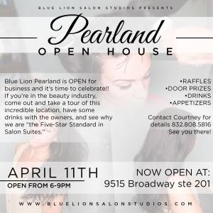 Blue Lion Salon Studios Celebrates Pearland Opening April 11 Grand Flyer