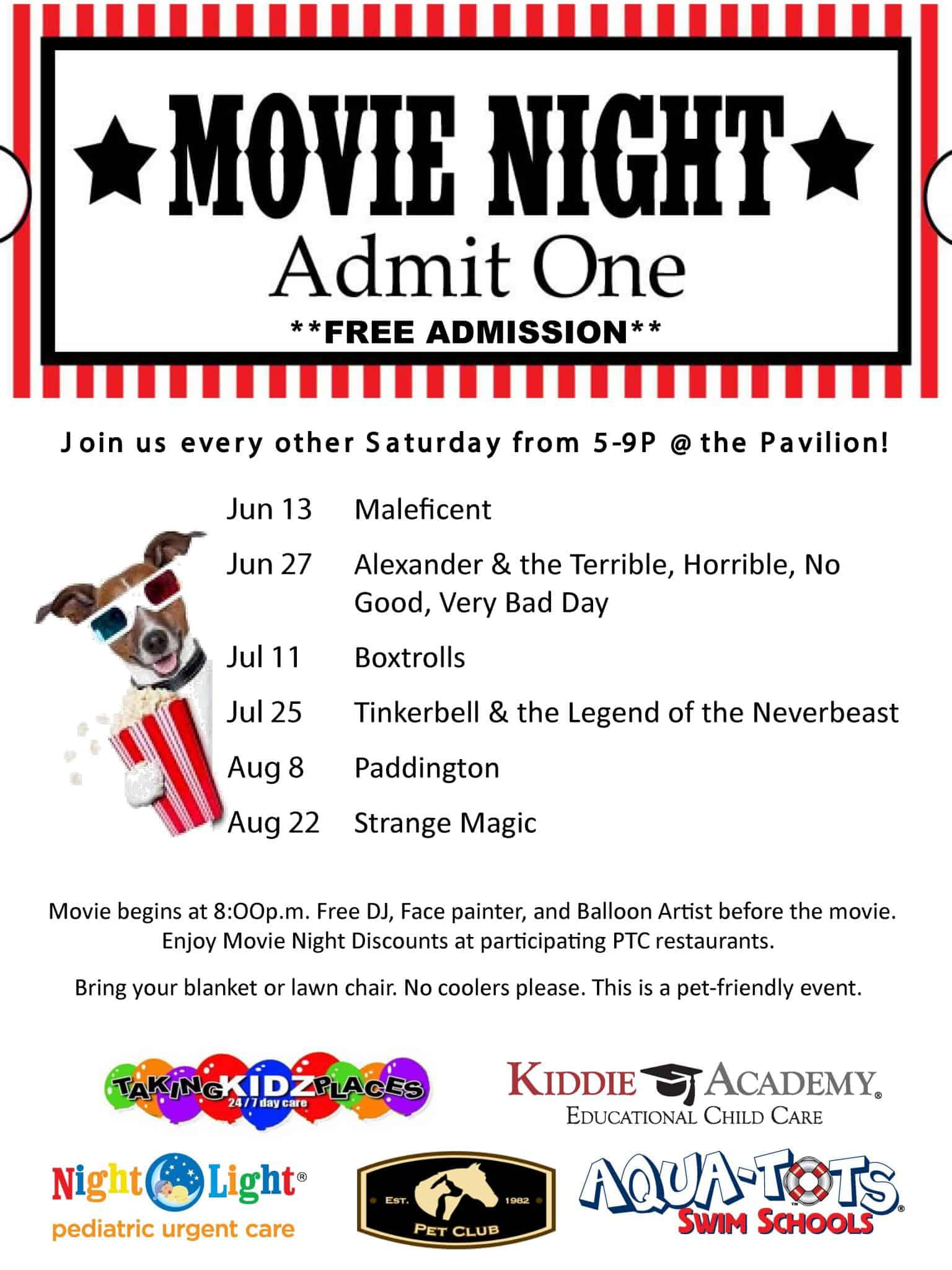 Pearland Town Center Summer Movie Night Series Pearland