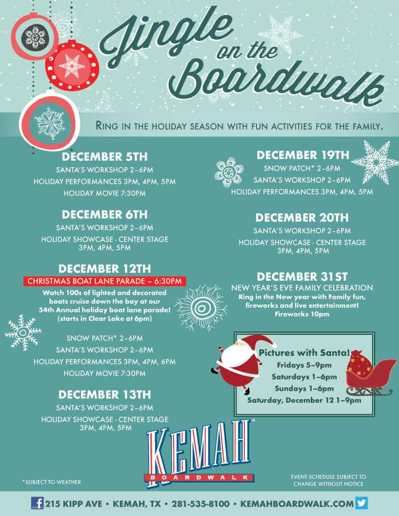 Jingle on the Boardwalk in Kemah - Dec 5-20 - Pearland Texas ...