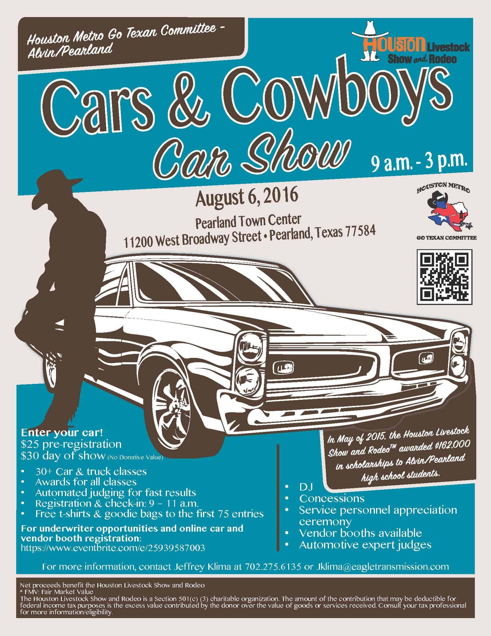 Houston Livestock Show Rodeo Presents Alvin Pearland Cars Cowboys Car