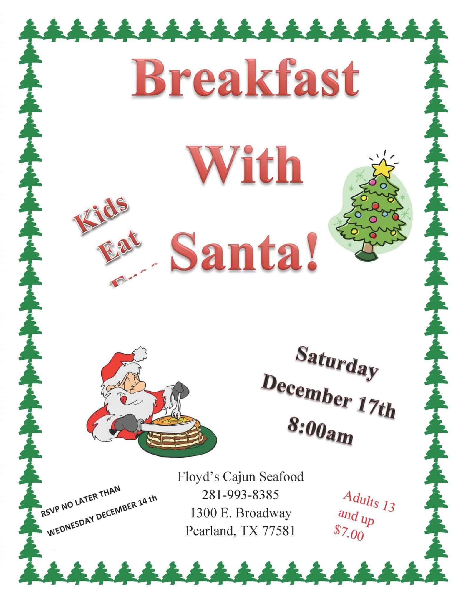 Floyd's Cajun Seafood Presents Breakfast With Santa ...