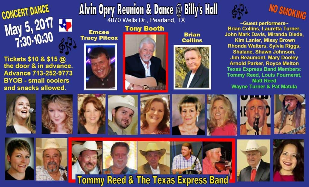 Alvin Opry Reunion Dance - Friday, May 5, 2017
