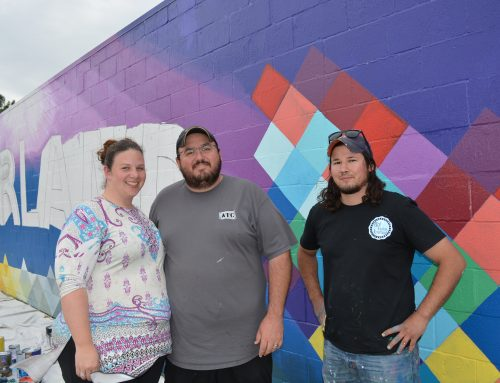 Local Pearland Businesses Collaborate to Create Art Mural