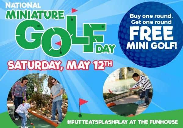 Celebrate National Miniature Golf Day At Putt Putt FunHouse
