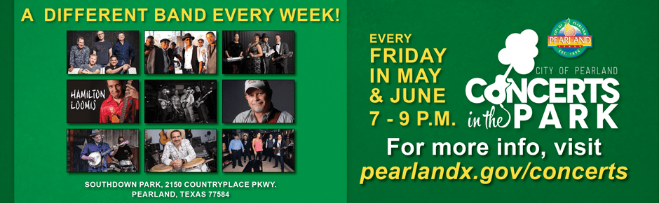 concerts in the park pearland