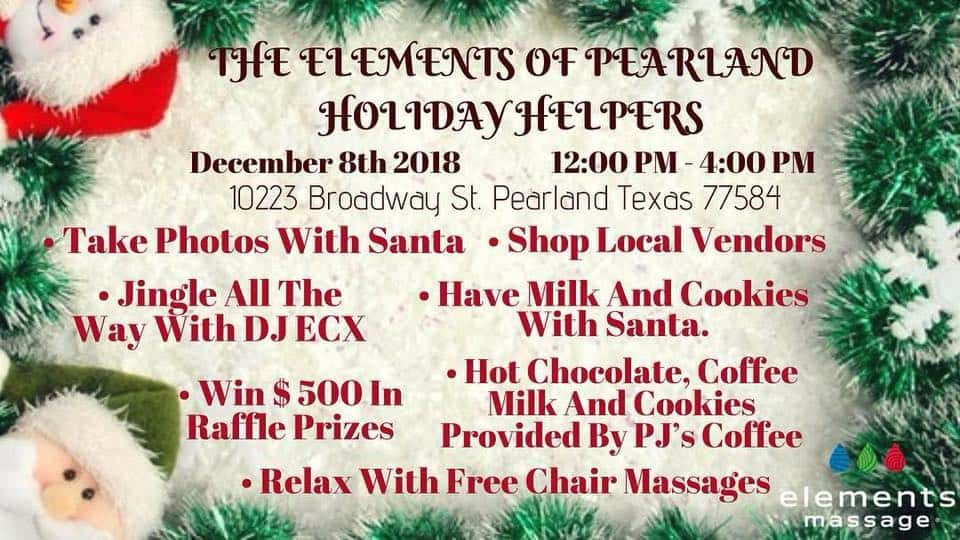 The Elements of Pearland Holiday Helpers - Pearland Texas Convention ...