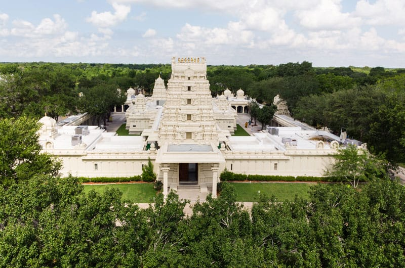 The Sri Meenakshi Temple in Pearland is the only Hindu temple outside of India dedicated to Meenakshi, the Hindu goddess of marriage.